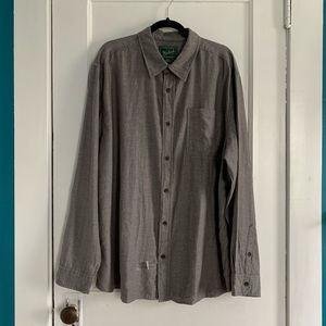 Grey Woolrich lightweight long sleeve button down